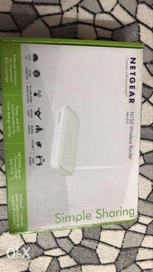 White Netgear N150 Wireless Router Box