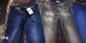 Blue Denim Jeans And Black Denim Jeans call .09