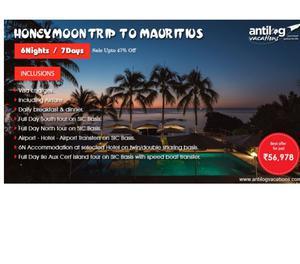 Honeymoon Trip to Mauritius | Mauritius Honeymoon Package