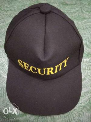 "New pant black ""nd new cap for security guard"
