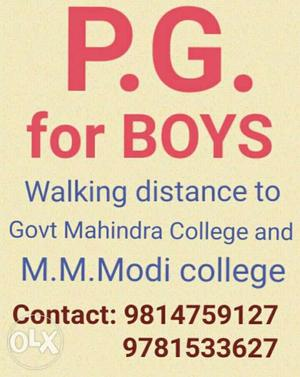 PG for boys