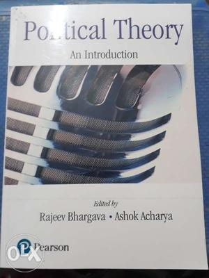 (Political Theory)A brand new book purchsed on