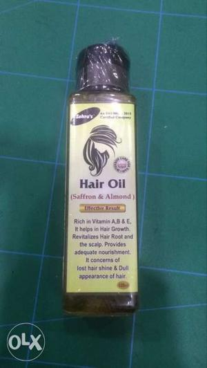Saffron & Almond hair oil