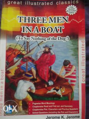 Best Novel. Three Men In a boat. Neat and Clean