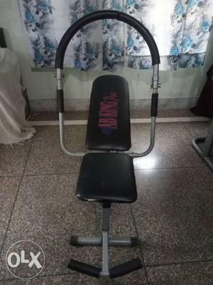 Black And Gray Workout Bench