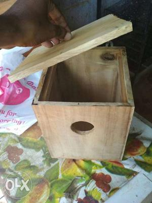 Wooden bird box(free home delivery for 10 km