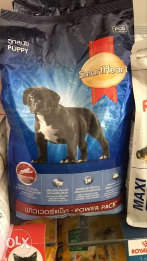 All types of dog foods and pet food available