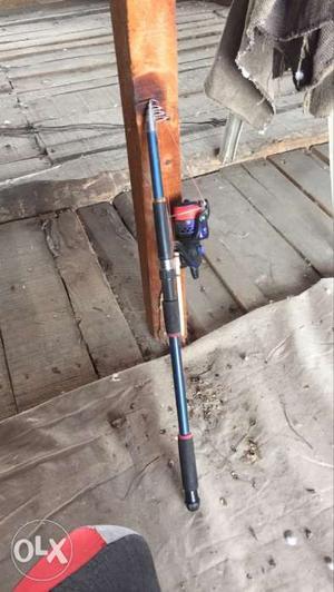 Blue And Gray Telescopic Fishing Rod