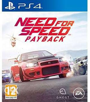 Ps4 game Need for speed payback on rent for 500Rs /- One