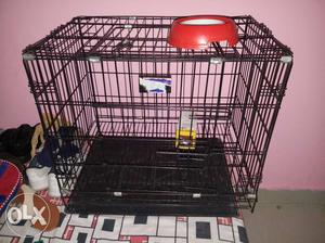 Pup cage for sale in Haldwani. Capiable for small
