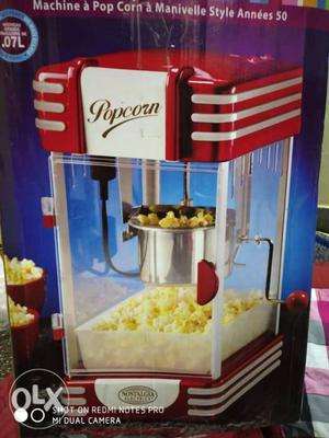 Red And Gray Popcorn Maker Box