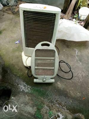 White Tower Air Cooler And White Electric Heater