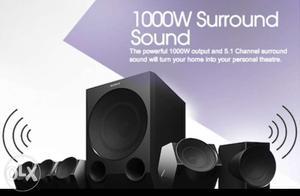 Black Sony  Watt 5.1 Multimedia Speaker in warranty 6