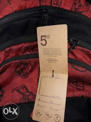 Red And Black Laptop Backpack Big bag