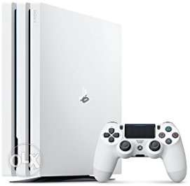 White Sony PS4 Pro Console With Controller