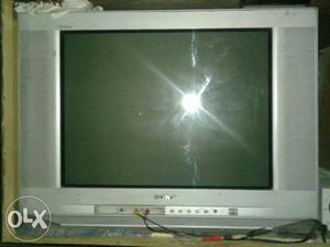 Gray Philips Widescreen CRT TV