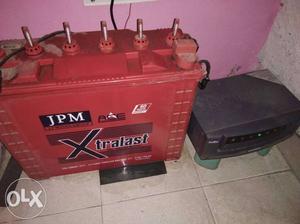 Luminous inverter 650VA + 150 AMP JP Minda Battery