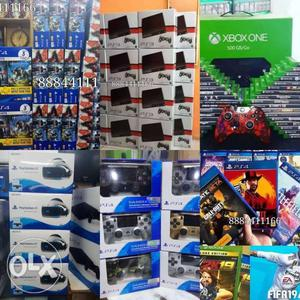 PS4 PS3 Xbox console games controller at a
