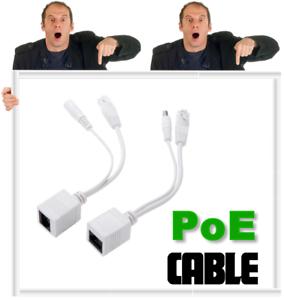 Power Over Ethernet Passive PoE Adapter Injector + Splitter
