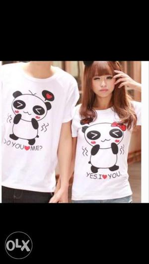 Couple t shirt (110 per t shirt) couple 220.
