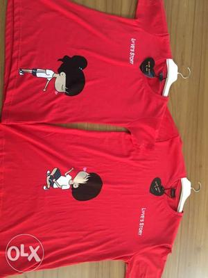 Couple t shirt bulk order (per pcs 110) pair (