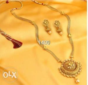 New 1 gram gold Stylish women necklace.