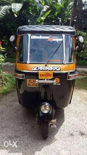 Black And Brown Electric Rickshaw
