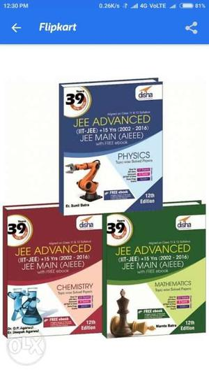 Jee Advanced + Mains 39 years of paper. New book