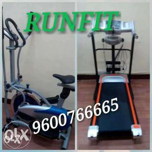 Orbitrek elite Treadmill With Gray And Blue Elliptical