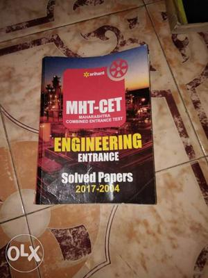 Arihant MHCet entrance exam solved papers