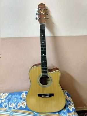 Warner acoustic guitar for sale. Very less used 2