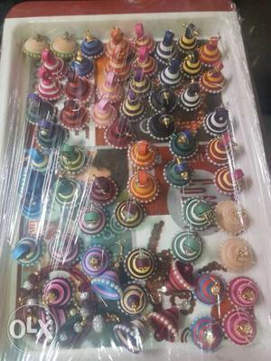 Colourful handmade ear rings