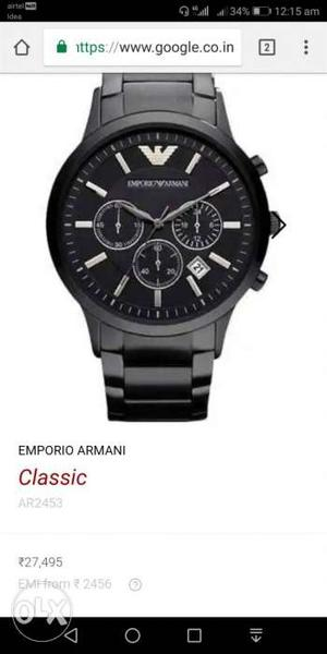 I want to sell my armani black watch almost new I need an