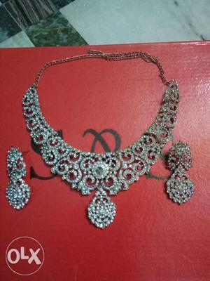 White Stone Necklace and Kundan Necklace