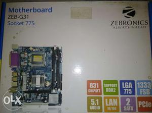 Zebronics Motherboard - ZEB-G31 With Intel Core 2