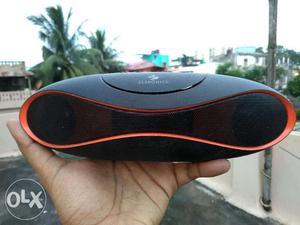 Zebronics wireless portable speaker (black and red)