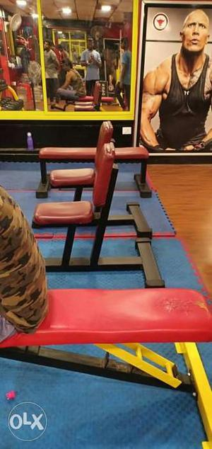 Cable cross utility bench cross fit boxing bag an