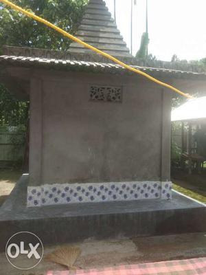 Gray Concrete Bench