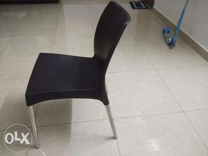 Hard Plastic chair with steel legs