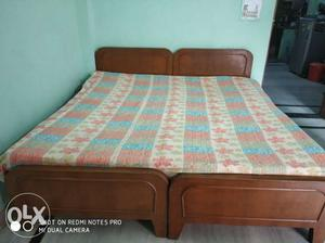 King size double bed with mattress. built with