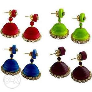 Colourful handmade ear rings for sale