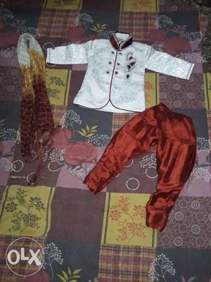 Sherwani for 0 size for the age of 1 to 2 yrs.