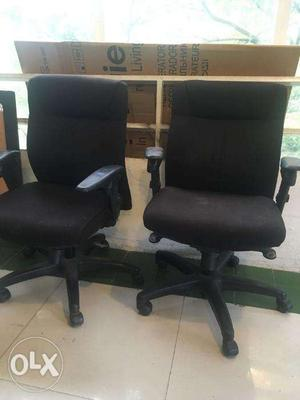 Black Push back office executive chairs
