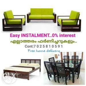 Fresh furniture on EMI scheme Free home delivery