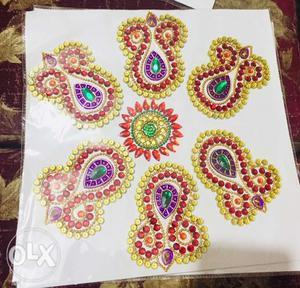 Kundan rangoli, kundan thoran available in more