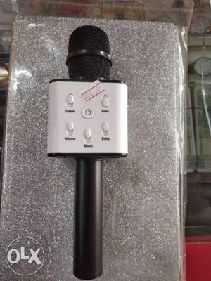 Black And Gray Bluetooth Microphone