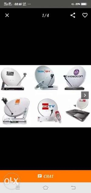 Tata Sky Set Of Box + Remote +extra Wire Totally