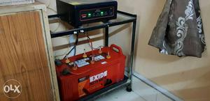 Exide Inverter with Battery and Iron Stand