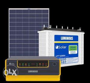 Luminous solar module, battery and inverter call