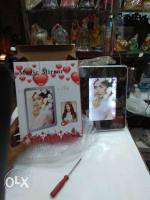 Magic photo frame mirror combo with usb port nd battery